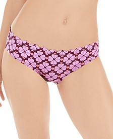 Flowerspade Printed Scalloped Hipster Bikini Bottoms