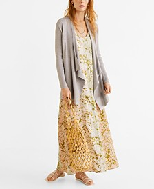 Mango Ribbed Long Cardigan