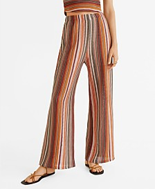 Mango Open-Knit Trousers
