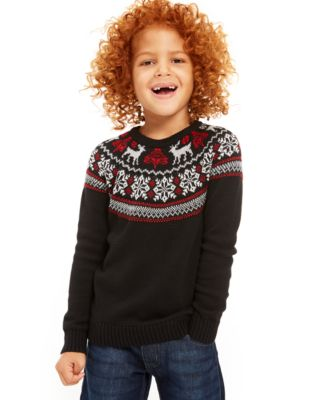 Little Boys Fair Isle Family Sweater, Created For Macy's