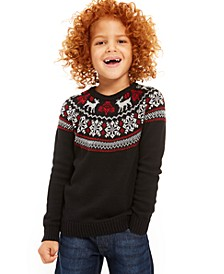 Little Boys Fair Isle Family Sweater, Created For Macy's