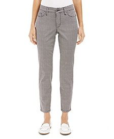 Houndstooth Skinny Tummy-Control Jeans, Created For Macy's