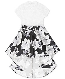 Big Girls Plus Size Lace High-Low Dress
