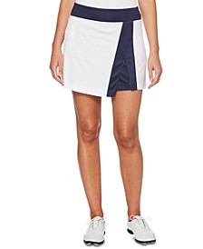Colorblocked Asymmetrical Golf Skort