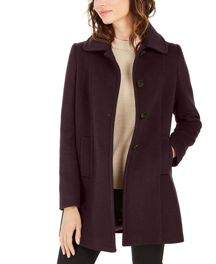 Larry Levine - Single-Breasted A-Line Coat