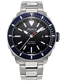 Men's Swiss Automatic Seastrong Diver 300 Stainless Steel Bracelet Watch 44mm