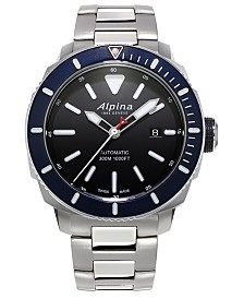 Alpina Men's Swiss Automatic Seastrong Diver 300 Stainless Steel Bracelet Watch 44mm