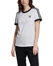 Adicolor Cotton 3-Stripe T-Shirt