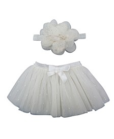 Baby Girl Tutu and Headband Set with Streamers