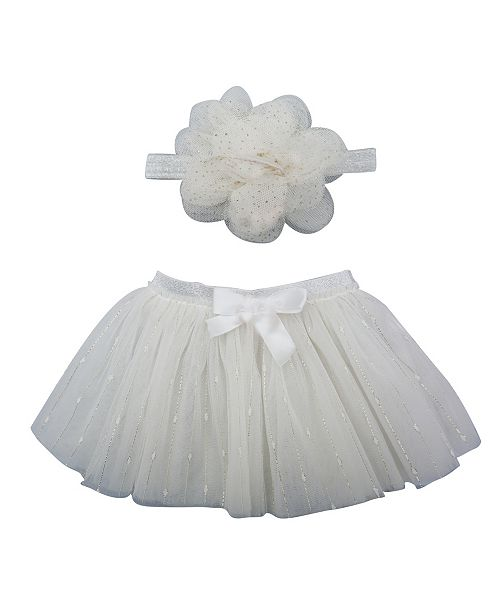 Popatu Baby Girl Tutu and Headband Set with Streamers