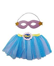Popatu Baby Girl Supergirl Tutu and Eyecover Dress-Up Set