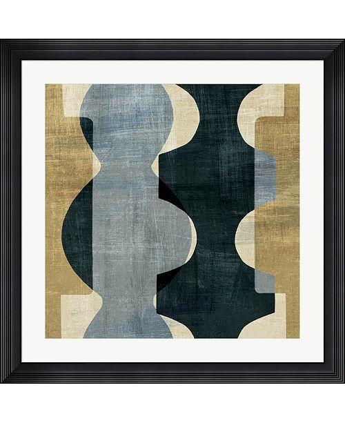 "Metaverse Geometric Deco I by Wild Apple Portfolio Framed Art, 32"" x 32"""