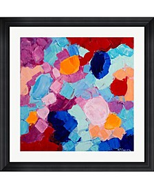 "Flower Amoebic Party I by Ann Marie Coolick Framed Art, 32"" x 32"""