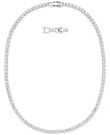 """Rose Gold-Tone Crystal Collar Necklace, 14-7/8"""" + 1"""" extender"""