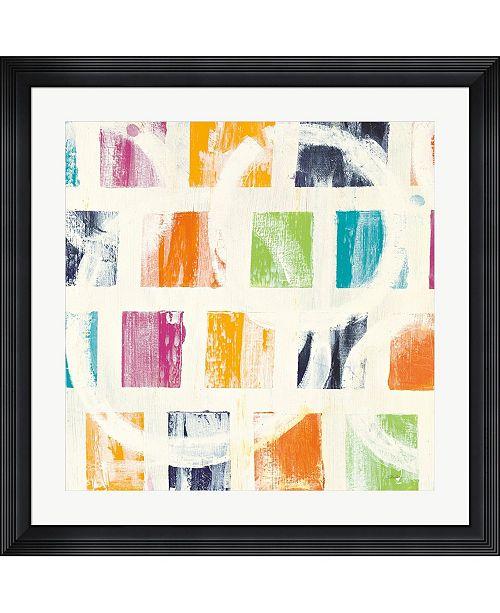 "Metaverse Color Block II by Wild Apple Portfolio Framed Art, 32"" x 32"""