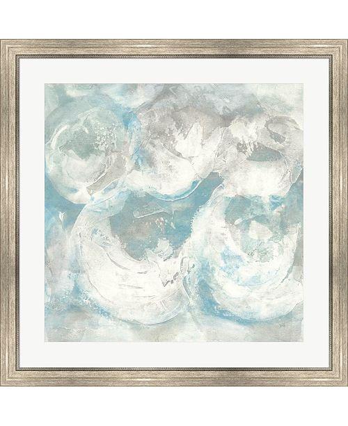 "Metaverse Pale Blue Circles IV by Chris Paschke Framed Art, 32"" x 32"""