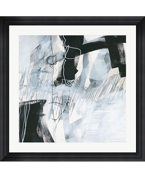 """Metaverse Whats Happening V by Jane Davies Framed Art, 32"""" x 32"""""""