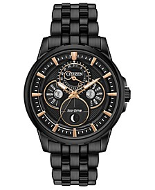 Eco-Drive Men's Calendrier Gray Stainless Steel Bracelet Watch 44mm