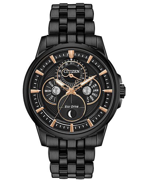 Citizen Eco-Drive Men's Calendrier Gray Stainless Steel Bracelet Watch 44mm