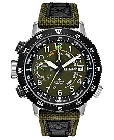 Eco-Drive Men's Promaster Altichron Khaki CORDURA® Strap Watch 47mm