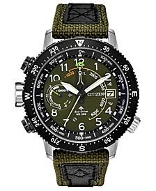Eco-Drive Men's Promaster Altichron Khaki CORDURA® Strap Watch 47mm