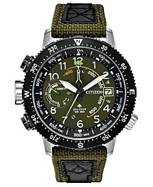 Citizen Eco-Drive Men's Promaster Altichron Khaki CORDURA® Strap Watch 47mm