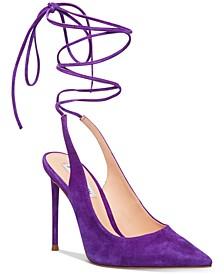 Women's Vienna Ankle-Tie Slingback Pumps