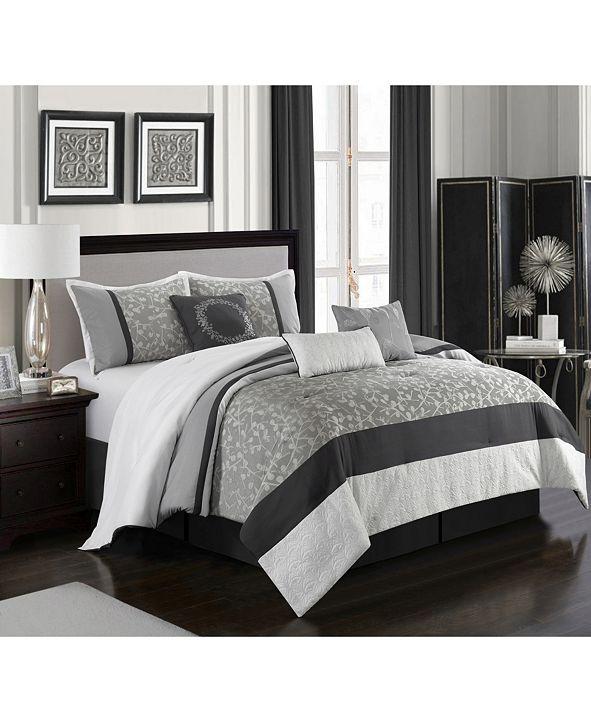 Nanshing Willow 7-Piece  King Comforter Set