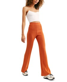 Free People Keep It Real Ribbed Flare-Leg Pants