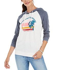 Juniors' Surf And Sunshine Graphic-Print Hoodie