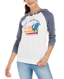 Roxy Juniors' Surf And Sunshine Graphic-Print Hoodie
