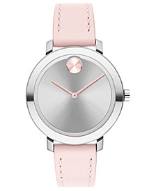 Women's Evolution Swiss Bold Pink Leather Strap Watch 26mm