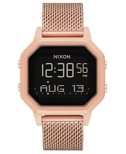Nixon Women's Siren Rose Gold-Tone Stainless Steel Milanese Bracelet Watch 36mm