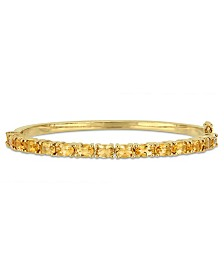Oval-Cut Citrine (6-3/4 ct. t.w) Bangle in 18k Yellow Gold Over Sterling Silver