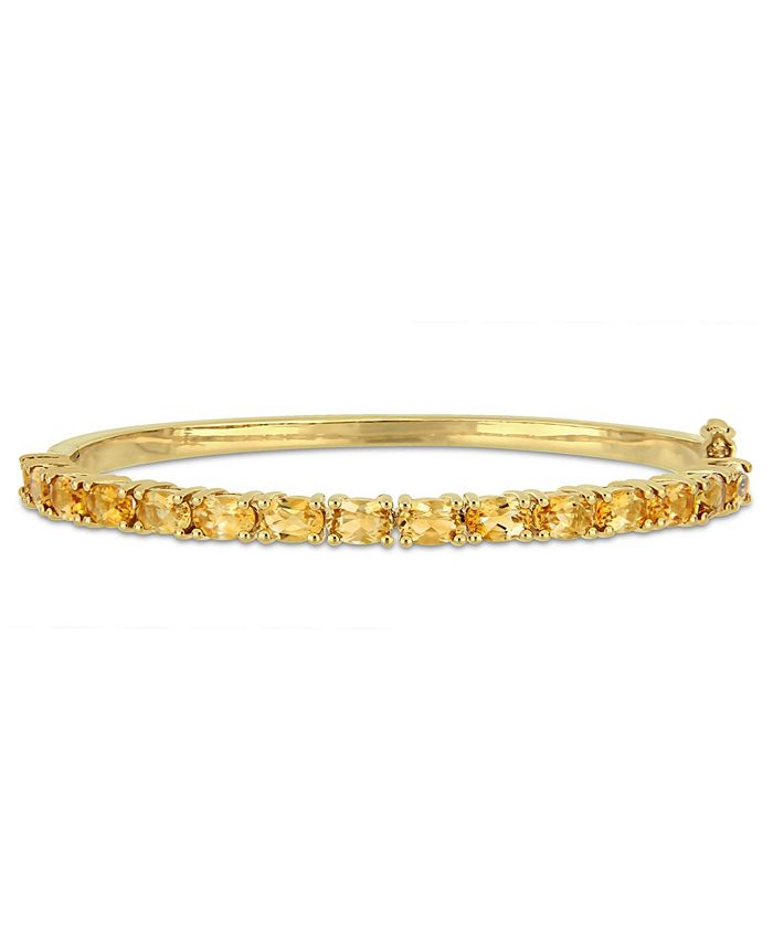 Macy's - Oval-Cut Citrine (6-3/4 ct. t.w) Bangle in 18k Yellow Gold Over Sterling Silver