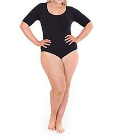 Woman Elbow Sleeve Bodysuit