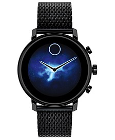 Connect 2.0 Black Stainless Steel Mesh Bracelet Touchscreen Smart Watch 42mm