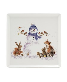 Wrendale Snowman Square Plate