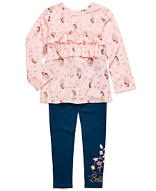 Little Girls 2-Pc. Ruffled Belle Top & Leggings Set