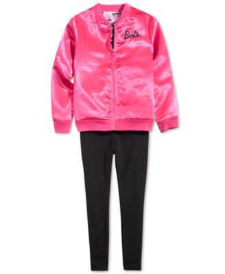 Big Girls Satin Bomber Jacket