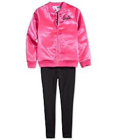 Barbie Big Girls Bomber Jacket & Leggings
