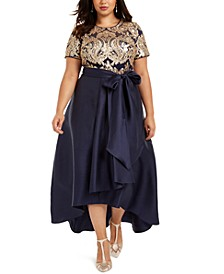 Plus Size Embellished Gown