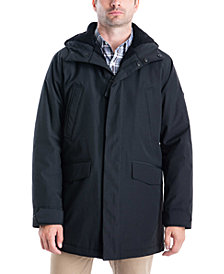 Michael Kors Men's Big & Tall Otto Hooded Stadium Parka with Faux Sherpa Lining