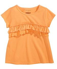 Baby Girls Cotton Ruffle-Trim T-Shirt, Created for Macy's