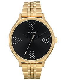 Nixon Women's Clique Gold-Tone Stainless Steel Bracelet Watch 38mm