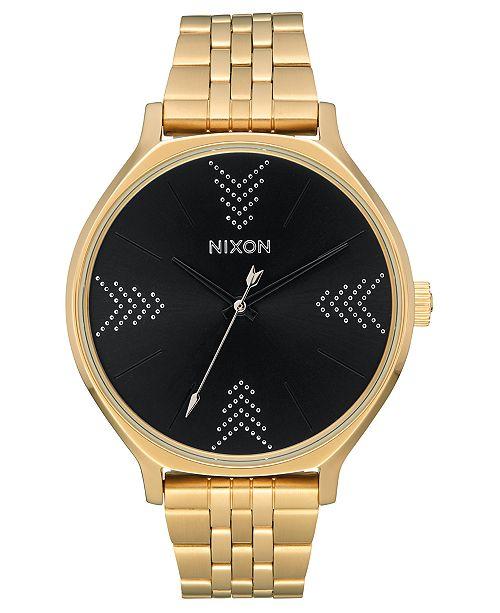 Nixon Women's Clique Gold-Tone Stainless Steel Bracelet Watch 38mm