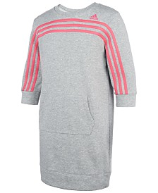 adidas Big Girls Three-Stripe French Terry Dress