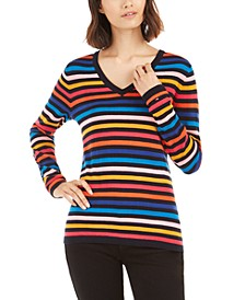Ivy Striped Cotton Sweater, Created For Macy's