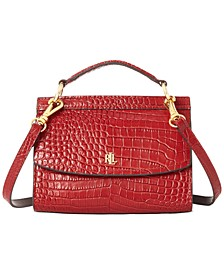 Convertible Croc-Embossed Leather Belt Bag