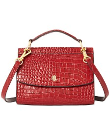 Lauren Ralph Lauren Convertible Croc-Embossed Leather Belt Bag